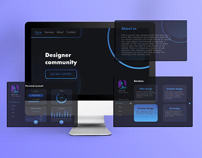Website for designer community