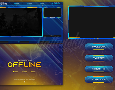FREE TWITCH STREAM OVERLAY TEMPLATE 2018 #8