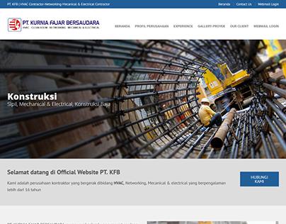 Re-Design Company Profile Website of www.kfb.co.id