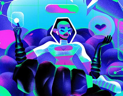 X BOX Women in Gaming Illustration