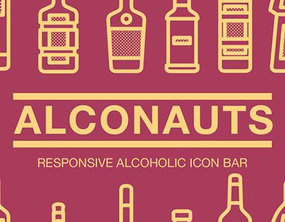 ALCOHOLIC SET OF RESPONSIVE ICONS