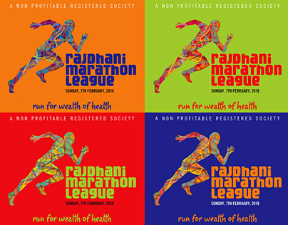 Rajdhani Marathon Logo, branding, Poster