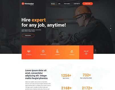 Hiretasker | Web design