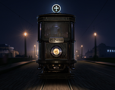 The Black Mary (1917 Funeral Tram)