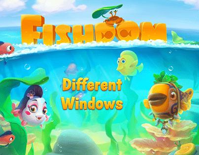 Different Windows of Fishdom PLayrix