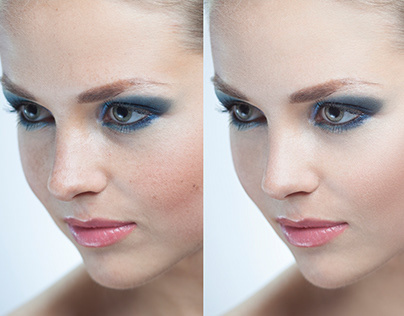 Before/After. Retouch. Face.