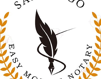 E-mobile Notary Logo Design