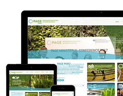 Sitio web PAGE Perú