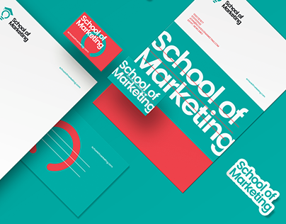 School of marketing Brand Identity Design.