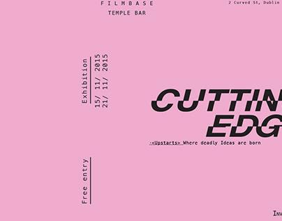 Cutting Edge Exhibition Identity // Upstarts