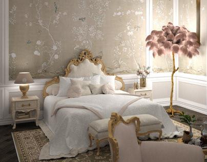 Luxury bedroom in the private house. Baku Azerbaijan