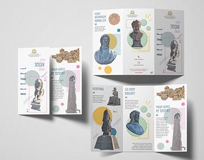 S.Ü. Heykel Bölümü Broşür Tasarımı