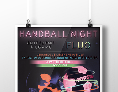 Affiche - Handball Night Fluo - 2015
