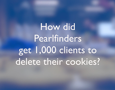 Pearlfinders delivering cookies to 1000 clients