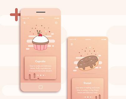 Dessert slider