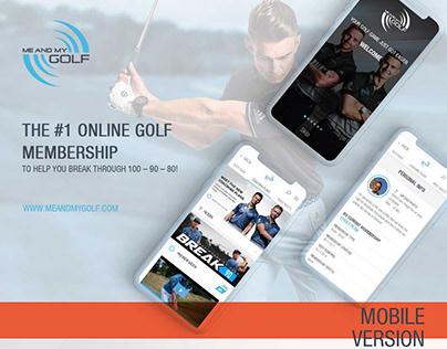Mobile site design for meandmygolf.com