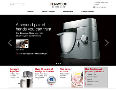 Kenwood Website and iPhone App