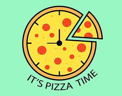 Minimal Pizza Logo.