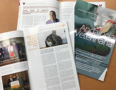 Maquetación de la revista Andalucía Veterinaria