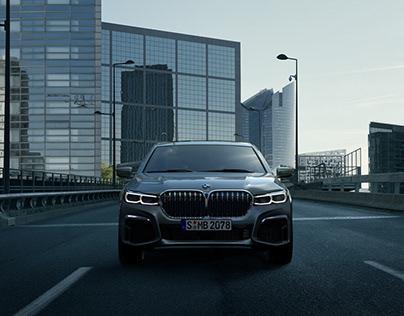 BMW serie 7 . la défense x brut