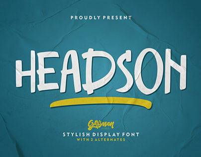 Free Headson Display Font