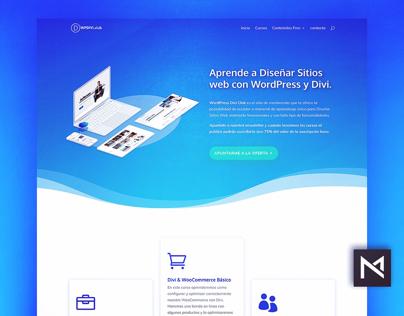 Material Web design for Wordpress