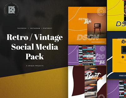 Retro / Vintage Social Media Pack