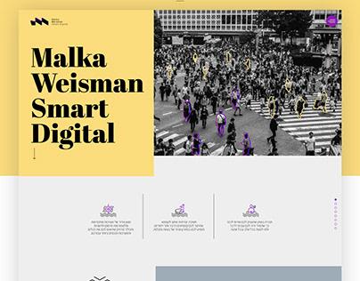 אתר תדמית לסוכנות דיגיטל מלכה ויסמן