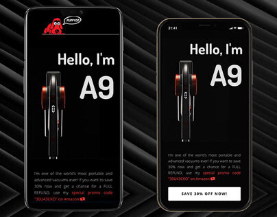 Landing page design with different UX based on device