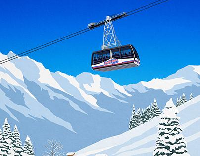 Murren ski poster