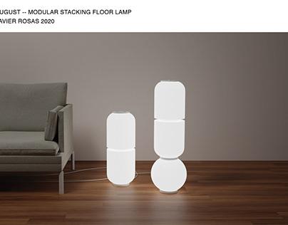 August - Modular Stacking Floor Lamp