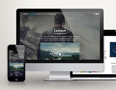 Canal + International TV website Prototype