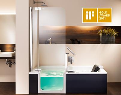 Artweger Twinline shower + bathtub
