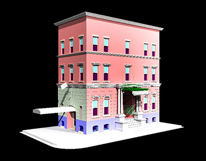 3D model of an old New York style building