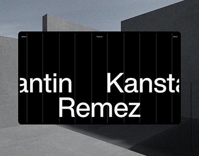 Kanstantin Remez – Portfolio concept
