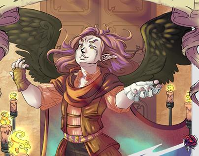 Warlock Fallen Angel Card - Commission - 2020