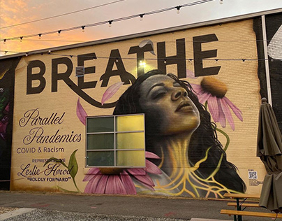 Breathe — Parallel Pandemics: Covid-19 and Racism Mural