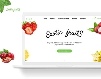 Landing page Exotic fruits