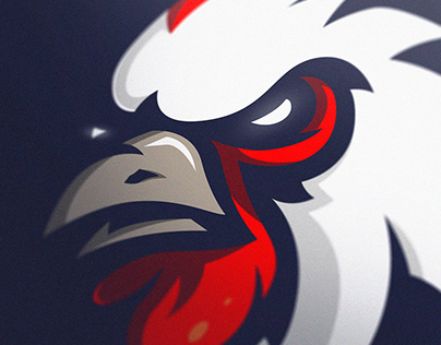 "|FOR SALE|""GALLUS"" Rooster sports/mascot logo."