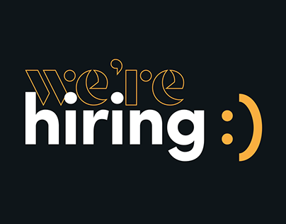 We're Hiring! Animated Loop