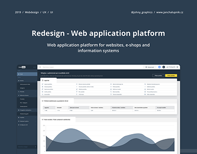 Redesign of Web application platform UX / UI