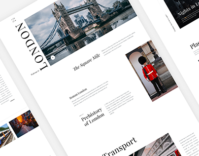 Daily UI 031 - London The City - Travel Website - Free