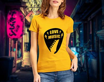 Love Music Quote Design