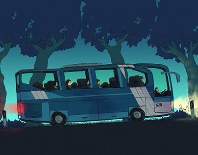 Nighttime busdrive