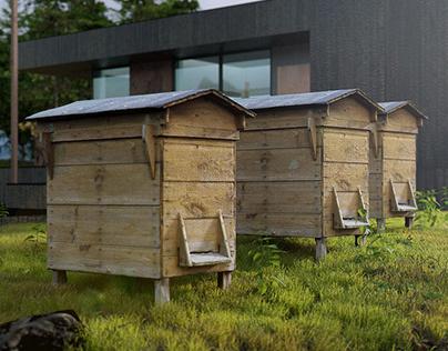 Beehive box 3D-scan