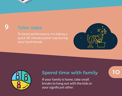 INFOGRAPHIC DESIGN : TOP REMOTE WORK TIPS