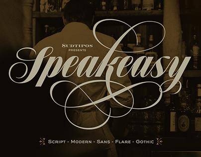 Speakeasy typeface.