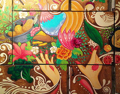 Mural - Not Just Paranthas