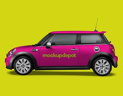 4K Mini Cooper Wrap PSD mockup by Mockup Depot
