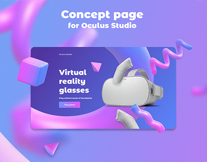 Concept page for Oculus Studio